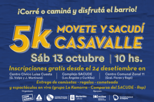 5K Movete y sacudí Casavalle