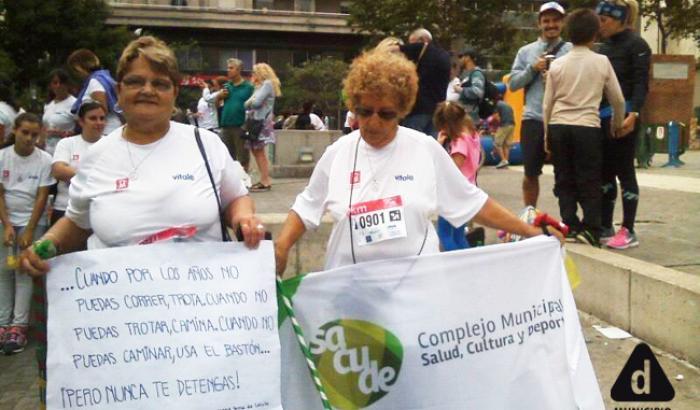 Integrantes de la Red de Adultas Mayores y el Complejo SACUDE.