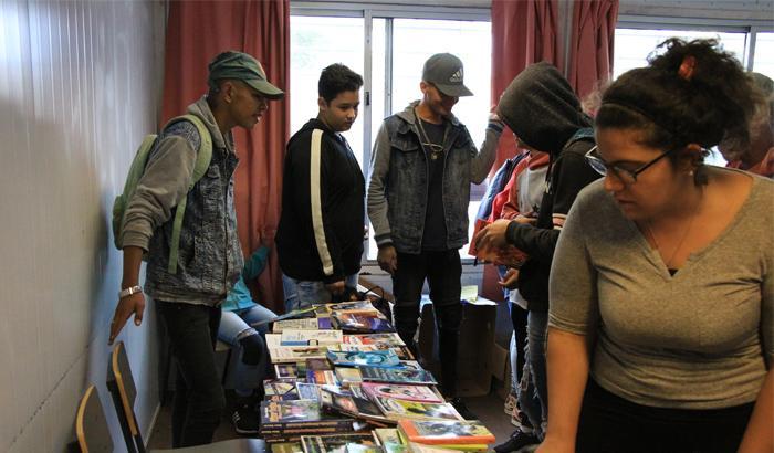 la biblioteca de Mové tu barrio llegó al CEC Casavalle