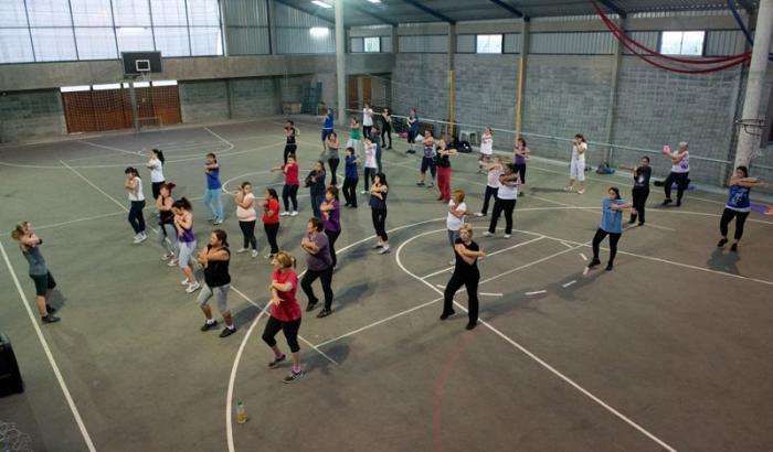 Actividades deportivas en el gimnasio