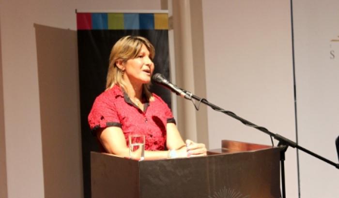 La Alcaldesa Sandra Nedov expuso en representación de la Junta de Alcaldes