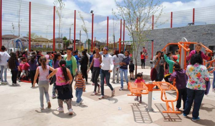 La Plaza en día de su inauguración