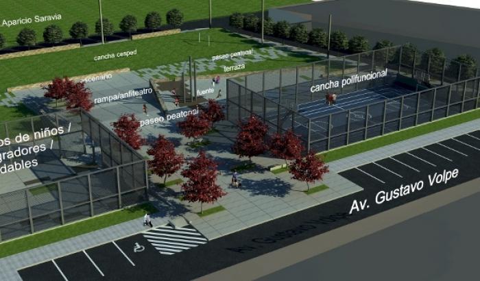 Proyección de la nueva plaza en Casavalle