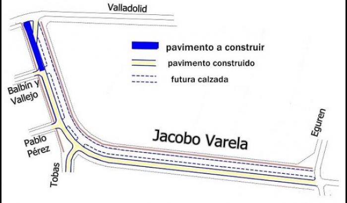 plano con ubicación de las obras