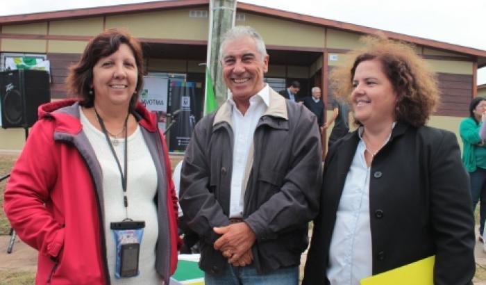La Directora del Municipio d Laura Guinovart, Herbert Ichusti por el Plan Cuenca