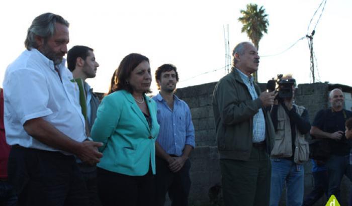 Intendenta de Montevideo Ana Olivera, el Ministro de MVOTMA Francisco Beltrame
